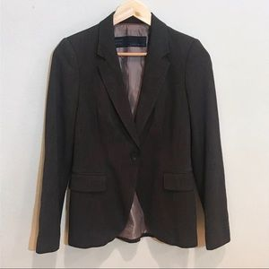Zara Basic Brown Grey Versatile Blazer Size Small